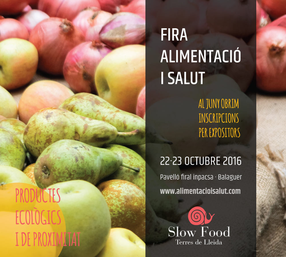 Slow Food - Inscripció expositors
